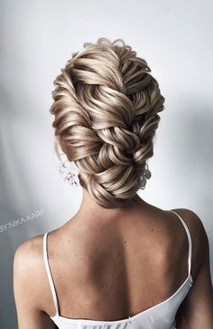 Fabulous wedding updo hairstyle - wedding updo hair updos Gorgeous Wedding Hairstyles For The Elegant Bride Loose Hairstyles, Bride Hairstyles, Hairstyle Wedding, Gorgeous Hairstyles, Elegant Hairstyles, Curly Wedding Updo, Bridesmaid Hair Updo Braid, Hairstyles For Gowns, Graduation Hairstyles