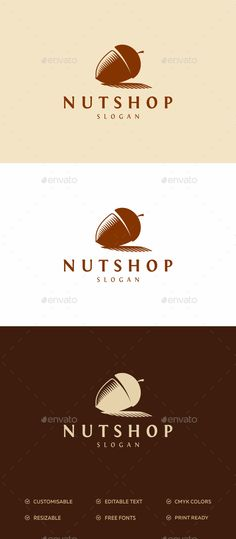 Nut Shop Logo — Photoshop PSD #nut logo #dry fruits • Available here → https://graphicriver.net/item/nut-shop-logo-/16910093?ref=pxcr