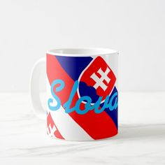 Shop Slovakia Coffee Mug created by AwesomeFlags. Personalise it with photos & text or purchase as is! Slovakia Flag, Political Events, National Flag, Custom Mugs, Art For Kids, Kids Outfits, Coffee Mugs, Create Yourself, Art Pieces