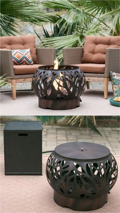 24 Best Fire Pit Ideas to DIY or Buy ( Lots of Pro Tips! ) - A Piece Of Rainbow - 24 best outdoor fire pit ideas including: how to build wood burning fire pits and fire bowls, where - Wood Fire Pit, Fire Pit Grill, Wood Burning Fire Pit, Diy Fire Pit, Diy Propane Fire Pit, Fire Pit Coffee Table, Fire Table, Coffee Tables, Backyard Bbq Pit