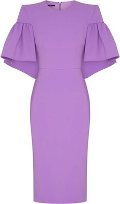 Fashion Tips 101 Alex Perry Coralie Ruffled-Sleeve Satin Crepe Dress .Fashion Tips 101 Alex Perry Coralie Ruffled-Sleeve Satin Crepe Dress Elegant Dresses, Sexy Dresses, Cute Dresses, Beautiful Dresses, Dress Outfits, Casual Dresses, Short Dresses, Dresses For Work, Fashion Outfits