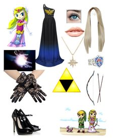 """princess elisa outfit 1 (wind waker)"" by laughing-jack5 ❤ liked on Polyvore featuring Lipsy, MDMflow, Nintendo and Feathered Soul"