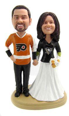 Hockey Wedding Cake Toppers