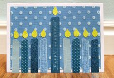 could also be a good option for birthday candles. Hanukkah Crafts, Christmas Hanukkah, Hannukah, Happy Hanukkah, Christmas Time, Scrapbook Blog, Scrapbook Pages, Hebrew School, American Crafts