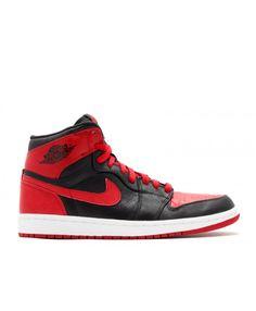 best website b36db 56b03 Air Jordan 1 Retro High Ban Banned Black Varsity Red White 432001 001 High  Top Sneakers