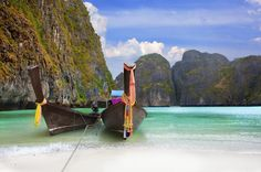 Maya Bay Phi Phi - in Thailand Maya Bay, Phi Phi Thailand, Phi Phi Island, Cruise Destinations, Vacation Club, Pattaya, Krabi, Phuket, Bangkok