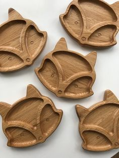 Wooden plate kids plate plate for kids baby gift wooden Baby Shower Plates, Baby Shower Gifts, Cute Fox Drawing, Kids Plates, Baby Fish, Wood Sideboard, Baby Shower Party Supplies, Cnc Projects, Wooden Plates