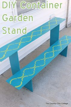 Diy Container Garden Stand Plus A $50 Giveaway! #summersolved #ad
