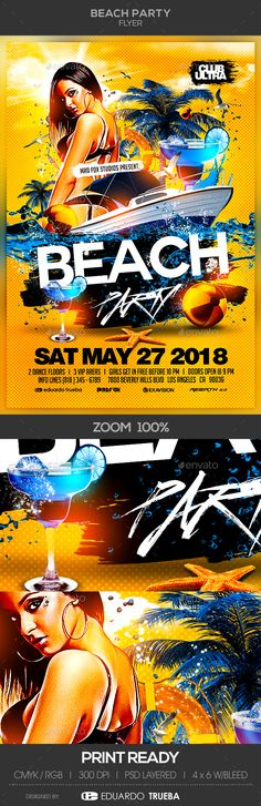 #Beach #Party #Flyer - Clubs & Parties Events