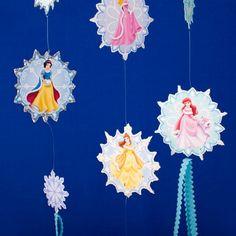Disney Princess Snowflake Mobile