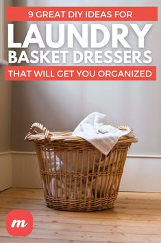 Laundry rooms can get a bit disorganized and it can seem like clothes are everywhere. That's why we decided to put together this list 9 organization ideas for the best way to create your own DIY laundry basket dresser. After reading you will probably be inspired by other storage project ideas in your mudroom or closets. Some utilize shelves while others offer drawers. #laundry #diy #organize #laundrybasket #laundrystorage #Homehacks #househacks #laundryroomideas #clothes #clothesstorageideas Laundry Basket Dresser, Laundry Storage, Clothing Storage, Diy Home Crafts, Laundry Rooms, Mudroom, Cherokee, Organization Ideas, Closets