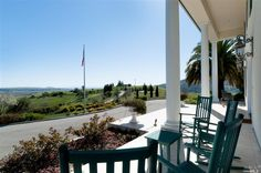 Gaze over the Wine Country from your front porch