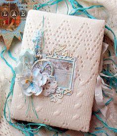 блог-вдохновение от d.h.LAE: Вдохновение с Еленой. Блокнот в вязаной обложке