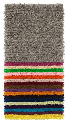 Heli Tuori-Luutonen Rya Rug, Wool Rug, Textile Fabrics, Textile Patterns, Carpet Mat, Rug Hooking, Color Mixing, Design Art, Weaving