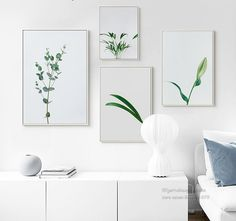 Home Pictures, Print Pictures, Multi Picture, Nordic Art, Eucalyptus Leaves, Flower Frame, Modern Wall Art, Bud, Canvas Wall Art
