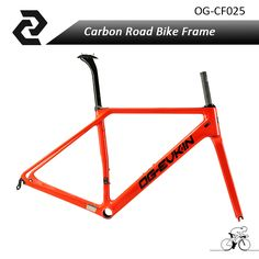 OG-EVKIN 2017 Super Light-weight Carbon Road Frame Bicycle BICICLETTA Frameset BB86 Glossy UD Di2 with Fork,Seat Post,Clamp