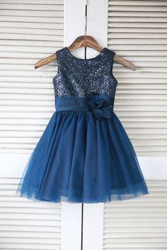 Silver/Pink/Navy Blue/Blush/White Sequin Tulle Flower Girl Dress Toddler/ Baby Girl Dress for Wedding Birthday Communion,Baptism Dress