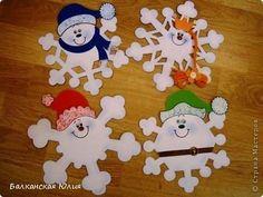 Assorted ideas here , good Santa  that can be adapted for various craft ideas;Снежинки (есть и обычные шаблоны)