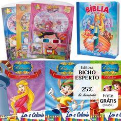 Kit 3D Kids, Atividades, Bíblia, Livros pra Colorir e fazer Mágica | Editora Bicho Esperto - 25% cada