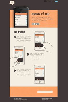 Dribbble: ChatCheckin Website, homepage UI Design