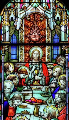 Last Supper Stained Glass by Matthew Green