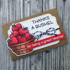 card tag gift card apple apples basket barrel Lawn Fawn Thanks a bushel ThePaperyMakery: Thanks a Bushel