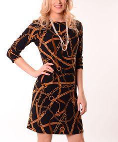 Love this Black & Gold Status Sheath Dress by Lbisse on #zulily! #zulilyfinds