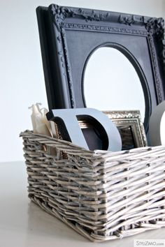 love the idea of my little treasures all collected in a basket like this
