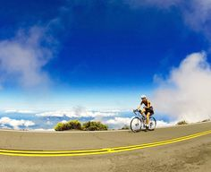 Cycling At Haleakala on Maui, Hawaii