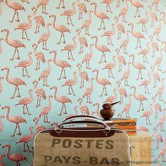 Flamingos auf schimmernden türkis | Hersteller und Lieferanten Eijffinger Script…