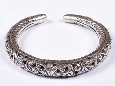 925 Solid Sterling Silver Bangle Nice Rajasthan Traditional Desing 50 mm JSBG-37 #Handmade #Bangle