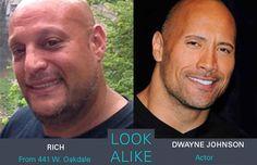 Rich and Dwayne Johnson  #lookalikes #lookalike #doppelganger #dwaynejohnson #celebrities #separatedatbirth