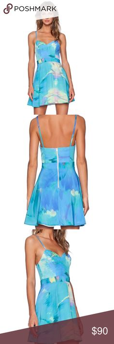 NBD x Naven Twins Adorn Fit and Flare Dress 100% poly Hand wash cold Back exposed zipper closure Boned bodice NBD Dresses Mini