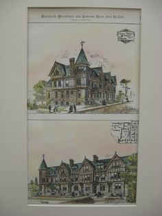 Chester Block at Mt. Auburn, Cincinnati, OH, 1880, J. W. Laughlin