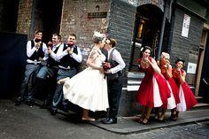 """""""Retro Jazz Wedding at OffbeatBride.com"""" Because I love jazz as much as you do honey.X"""