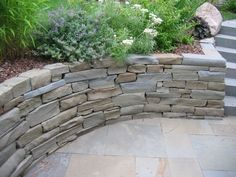 Stacked Bluestone Wall