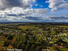 Beautiful aerial shot of Glen Innes by Buttola Images.