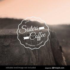 Vecteur de café de logo modifiable Vecteur gratuit