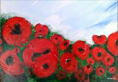 "Saatchi Art Artist marleen becks; Painting, ""Poppie's 3  SOLD"" #art"