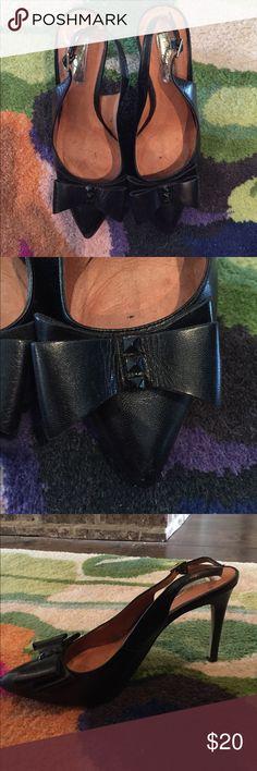 Halogen black stiletto heels Halogen black stiletto heels, studded bow on the toe Halogen Shoes Heels