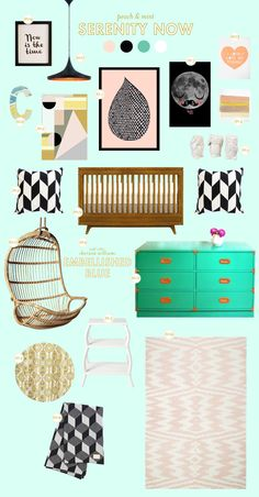 Lay Baby Lay: serenity now - peach & mint decor for kids room/nursery.