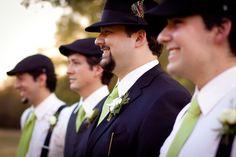 green for groom and groomsmen