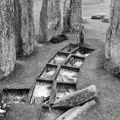 Investigations at Stonehenge in the 50's.