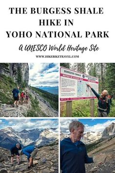 The Burgess Shale hike (a UNESCO site) in Yoho National Park is only accessible with a Parks Canada guide. Allow 11 hr to do the return hike, look for fossils & learn a lot. It's not rushed. #hiking #UNESCO #YohoNationalPark #Canada #fossils #geology #BurgessShale Best Hiking Gear, Hiking Tips, Yoho National Park, National Parks, Hiking Europe, Parks Canada, Emerald Lake, Visit Canada, Camping Guide
