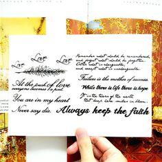 레트로 문자 임시 문신 바디 아트 플래시 문신 스티커 21*15 센치메터 방수 가짜 문신 헤나 고통 문신 스티커