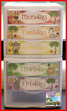 These FREE jungle-themed daily organization drawer labels will be a great addition to your jungle classroom!