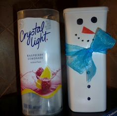 Snowman Containers for Center games from Crystal Light