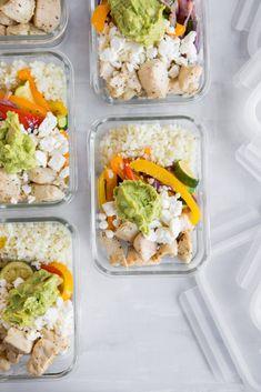 Roasted Veggie and Chicken Bowl Meal Prep Using @whollyguacamole Avocado! #ad