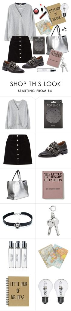 """"""":)"""" by fashionaddiction98 ❤ liked on Polyvore featuring MANGO, Topshop, Miss Selfridge, Givenchy, Child Of Wild, Byredo and Cavallini & Co."""