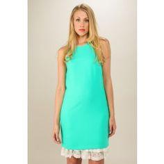 EVERLY:She's A Beauty Dress-Spearmint - $46.00